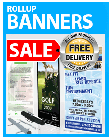 Roll up banners from £55